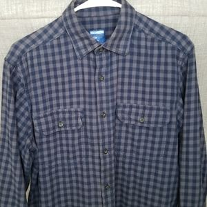 Mens Flannel Plaid Long Sleeve Button Up Shirt